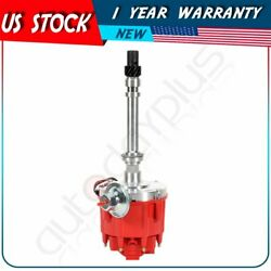 Hei Distributor Red Cap With 65k Coil 7500rpm Fits Chevy V8 350 Sbc 454 Bbc Gm08