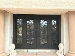 Kitty Wrought Iron Entry Door w/ Low E Dual-Pane Operable Tempered Glass