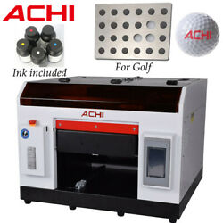 A3 Uv Printer For Golf And Flatbed Cylindrical Metal Glass Rotation Embossed 3d Us