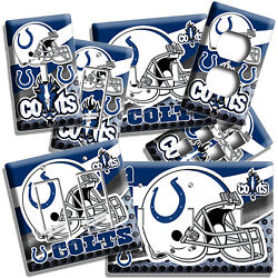 Indianapolis Colts Football Team Light Switch Outlet Wall Plates Man Cave Decor