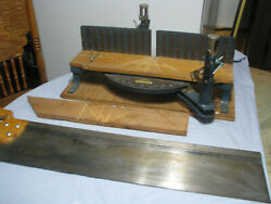 Vintage Stanley Mitre Box 2358a And Stanley Mitre Saw No 39-123 - Used
