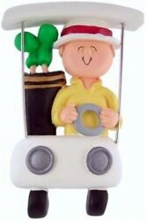 Golfer In Cart Christmas Ornament Great Gift Present Unique Avid Golf