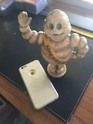 Michelin Tire Man Cast Iron Piggy Bank Solid Metal 4+lb Patina Collector Gift