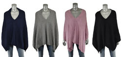 Purple Label Cable Knit Cashmere Poncho Scarf New 395