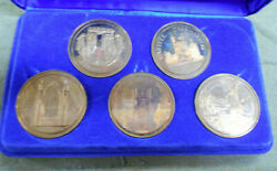 C46. Five5 Boxed 1975 Medals - European Architecture Heritage Year