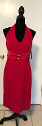 Donna Morgan Womens Red Evening Dress Size 8 NWT $22.00