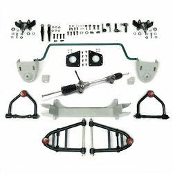 Stage 2 56.5 Mustang Ii Ifs Kit Stock Height Spindles Sway Bar Suspension Front