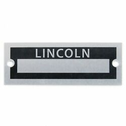 Lincoln Identification Dataplate Serial Number Id Tag Continental Mark Town Car