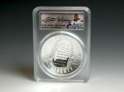 Apollo 11 Silver 5oz Coin - 1st Day Launch - Signed By Fred Haise - Pcgs Pr69