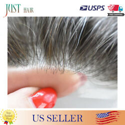 Mens Toupee French Lace Poly Pu Hairpieces Wig Remy Human Hair Systems Australia