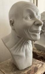 Franz Xaver Messerschmidt Style Carved Marble Bust / Character Head