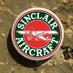 Sinclair Aircraft Oil Led Sign Wall Mounted Light Box Garage Vintage Aviation