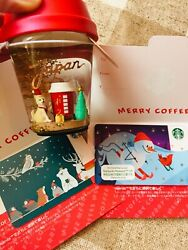 Starbucks Japan Coffee Snow Dome Holiday 2019 Togo Cup Card Set Limited Rare New