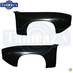 72-74 Plymouth Barracuda Cuda Front Fender Golden Star Brand Name - Pair Lh And Rh