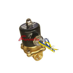 New 12v Dc 1/4 Electric Solenoid Valve Water Air Gas Fuels N/c - Brass