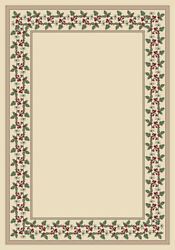 Milliken Ivory Transitional Casual Petals Bulbs Area Rug Floral Wildberry Opal