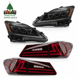 AMBER LED Projector Headlights+Taillights for 06-13 IS250350 Sedan 08-14 ISF