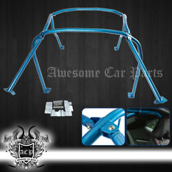 For 13- Brz Fa20 Frs Fr-s Gt86bolt On Interior Steel 6 Point Roll Cage Bars Blue