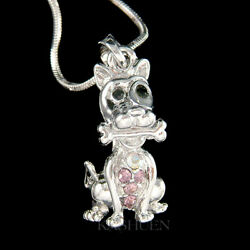 Great Dane Doberman Dog Made With Crystal Scooby Doo Necklace Jewelry