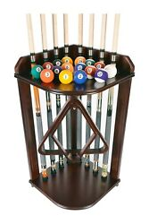 Iszy Billiards- Cue Rack Only - 8 Pool - Billiard Stick And Ball Set Holder Floor