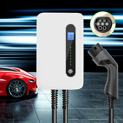 Ev Charging Station 32amp Type2 Evse Wallbox 6.1m Cable Home Charger For Phev