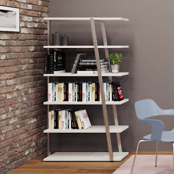 Reversible Office Bookcase With Modern Metal Legged Frame