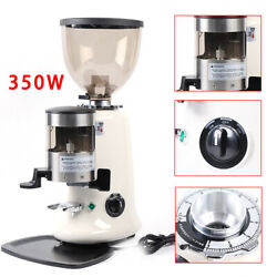 Commercial 350w Coffee Grinder Burr Mill Machine Abs Hopper Aluminum Body 110v