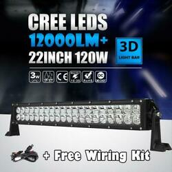 24inch/22 280w Led Work Light Bar Flood Spot Fit For Jeep Suv Atv Driving