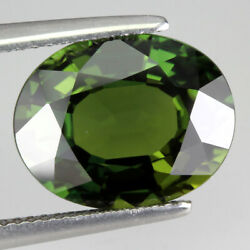 Certificate 8.45 Ct 14x11mm Oval Cut Natural Green Sapphire Thailand Heated Only