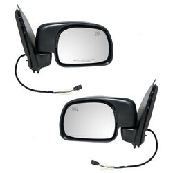 Pair Set Power Side View Mirror Paddle Type Heated For 2000-2001 Ford Excursion