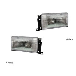 New Pair Set Headlight Headlamp Assembly Dot Stamped For 93-95 Quest Villager