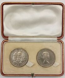 1953 Southern Rhodesia Crown 2pcs Proof Set Ps4 With Origin Case Mintage 3sets