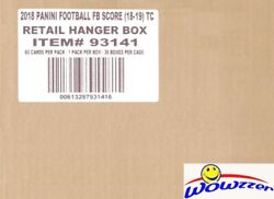 2018 Score Football Exclusive Factory Sealed 36 Box Hanger Case-2160 Cards