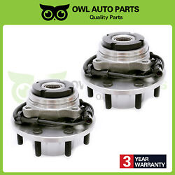 Pair Of 2 Front Drw Wheel Hub Bearing Course Thread After 3/22/99 W/ Abs 515057