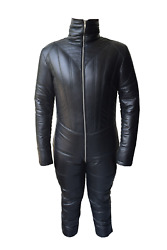 Genuine Leather Women Mistress Padded Catsuit For Discipline Slave Cosplay Gotic