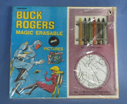 Rare Transogram 1960and039s Buck Rogers Magic Erasable Dot Pictures - Factory Sealed
