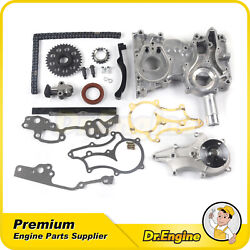 Fit 85-95 Toyota 4runner Pickup Celica 2.4l L4 Timing Chain Cover Kit Water Pump