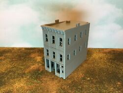 20th Century 3 Story Art Deco Building - Z Scale 1220 - 3d Printed Model Usa