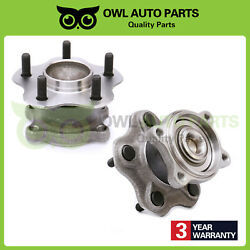 Rear Wheel Bearing And Hub Left And Right Set For Nissan Altima Maxima 2.5l 3.5l
