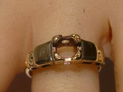 14k Gold Wedding Band Ring Setting Size 7 Weights 3.4 Grams Vintage