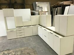 New Ivory Gloss Complete Kitchen Display With Ivory Matching Textured Units
