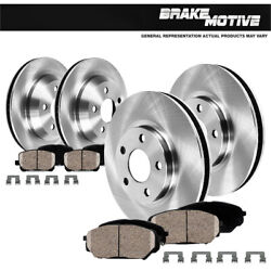 Front Rear Rotors Ceramic Pads For 2003 2004 2005 Lincoln Aviator