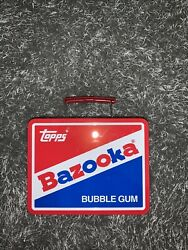Bazooka Bubble Gum Lunch Box - Topps Baseball Cards Collectible Metal Vintage