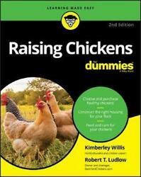 Raising Chickens For Dummies by Kimberley Willis English Paperback Book Free S