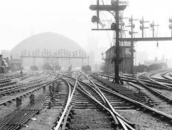 Old Train Photo Points And Signals At St Pancras Junction, London, C 1900 1
