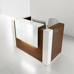 Tera 65 Reception Desk With Lighting Panel And Corners
