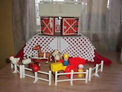 Fisher Price Little People Play Family Farm Barn Animals Fence Set 915 Guc
