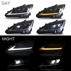 CLEAR FULL LED Projector Headlights one set  fit for Lexus 2008-2014 IS F