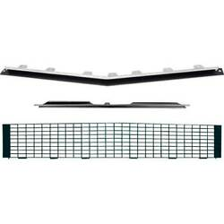 1967-68 Chevrolet Camaro Rs Grill Kit W/o Silver Trim And W/o Headlamp Bezels