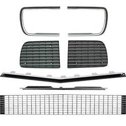 1967-68 Chevrolet Camaro Rs Grill Kit W/silver Trim And W/o Headlamp Bezels